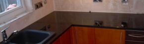 Doğal Granit mutfak tezgahı. Granit estetik ve görsel bir üründür.