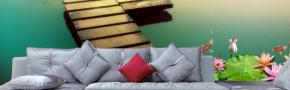 Dekoratif manzara efektli duvar çözümleri. Triadoor 3 boyut efektli manzara baskıları.