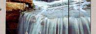 Duş kabin içi resimli cam fayans kaplama, resimli cam mozaik ve resimli cam fayans uygulamaları.