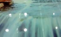 duş arkası fayans modelleri, küvet ve duşlar için resimli cam fayanslar
