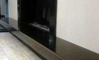 şömine uygulaması siyah granit kaplama, absolute black granit kaplamalı şömine