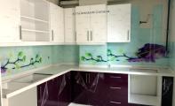 Mutfak tezgahlarına yeni çözüm triadoor cam panel. Cam fayans ve cam mozaik in alternatifi olan resimli tek parçadan imal cam paneller.