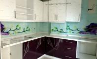 mutfak arası cam kaplama, 3dcam , glass art, cam sanatı, sanatsal mutfak