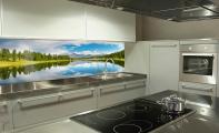 manzara resim baskılı mutfaklar, üçboyut mutfaklar, mutfaklarda doğa manzaraları, mutfak tezgah arası doğa resimli kaplamalar, 3d mutfak, resimli mutfak ve banyo duvarları