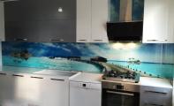 cam fayansın alternatifi olan yepyeni bir ürün resim baskılı 3D mutfak arası özel cam panel.