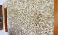 3 Boyutlu mermer mozaik duvar kaplamaları, kübik mozaik, mermer mozaik, mozaik, traverten mozaik