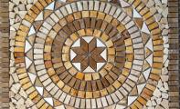 MERMER MADALYON 10   -   60*60 cm.  Mina Mozaik Dekor, Doğaltaş dekor göbek