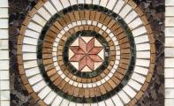 MERMER MADALYON 11  -  60*60 cm.   Nero Mozaik Dekor, Doğaltaş dekor göbek