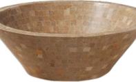 ALT-10 Traverten Mozaik Tipi Banyo Lavabosu / (Ölçüler:42*15 cm)