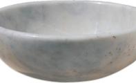 ALT-17 Beyaz Afyon Mermer Lavabo /  (Ölçüler : 42*15 cm)