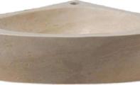 ALT-46 \ Traverten - Mermer Köşe Lavabo Modeli (Ölçüler : 45*15*45 cm)