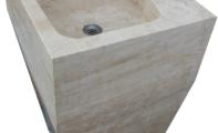 ALT-80  \ Traverten ayaklı lavabo modeli.(Ölçüler: 45*50*85 cm)