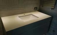 mermer banyo tezgahı consept uygulama, beyaz mermer banyo tezgahı, banyo tezgah uygulaması, mermer banyo,