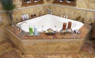 antik traverten mermer banyo döşemesi, antique traverten marble, traverten mermer jakuzi kaplaması, traverten mermer banyo yer döşemesi,