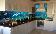 Mutfak arkası cam kaplama , Triadoor 3D mutfak Panelleri,