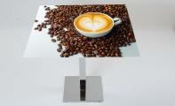 Firmaya özel kafe masaları, kişiye özel resim baskıları ile masa ve sehpa tasarımları. Tasarım sizsiniz uygulayan biz...