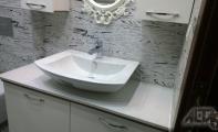 CALISCO Kuvars Yüzeyler, Calisco Banyo tezgahı Uygulaması, Calisco doğal kuvars taş tüm iç mekanlarda kullanılabilir. Asit ve bazlara karşı yüksek dayanım gösterir.