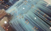 Banyo duvarları için özel yapım resimli cam fayans karoları