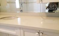 Çimstone dört görünüm banyo tezgah uygulaması, Çimstone Anadolu yakası yetkili satış merkezi ALTAŞ Granit.