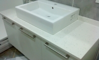 Çimstone 614 Mirat (ayna parçacıklı model) Banyo Tezgahı Uygulamaları.
