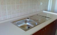 cimstone Oasis mutfak tezgahı uygulaması, çimstone istanbul-göztepe mutfak uygulaması