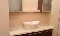 Çimstone Banyo tezgahı çanak lavabo uygulaması.Çimstone mu Granit mi sorusunun yanıtı tartışmasız Çimstone olur.