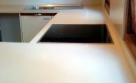 Cimstone 306 Oasis Modeli Mutfak Tezgahı Uygulaması, kadıköy - fenerbahçe çimstone mutfak seti ve mutfak arası panel kaplaması.