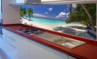 3D Cam Dekor, Triadoor. Kırılma direnci yüksektir ve bozulmaz, fırınlanmış TEMPERLİi (1000 derecede pişirilme) camlar kullanılmakta ve baskı duvarda kalan yüzeyden yapılmaktadır. Cam paneller seramik ve fayanslara oranla 10 kat daha sağlamdır