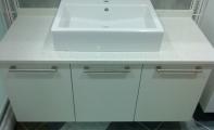 Çimstne Ataşehir  uygulama.Çimstone tezgah üstü seramik lavabo uygulama örneği.