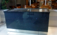 Çimstone Zeytinyağlı ürünler banko kaplaması, Bahçelievler Metroport AVM  Anandoludan Restaurant Çimstone Uygulaması
