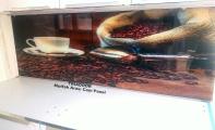 Mutfak dolap arası resimli cam kaplama...TRIADOOR. Resimli cam mutfak kaplamaları.