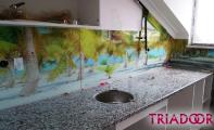 Granit mutfak tezgahı ve tezgah arası mutfak panel kaplamaları. Triadoor mutfak arası üç boyutlu fayans ve 3D panel kaplamaları mutfağıbuza değer katar ve siz buna değersiniz.