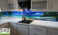çimstone mutfak tezgahı ve resimli cam panel kaplama- Triadoor