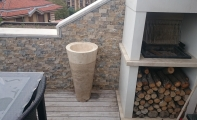 traverten lavabo