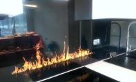 fantastik mutfak tezgahları, cam mutfak tezgahı tasarımları, mutfakta üçüncü boyut, tezgah arası cam