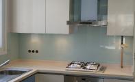 mutfak arası cam modelleri, cam mutfak uygulaması,