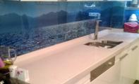 Mutfak tezgah arası resim baskılı akrilik panel kaplama,