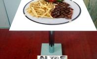 iştah açıcı büfe, cafe masaları. Hd kalite resim baskılı şık masalar ve sehpalar.