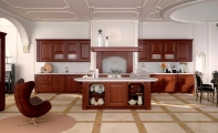 Mermer  zemin kaplaması çerçeve modeli, Carrera White mermer mutfak tezgahı