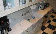 mermer mutfak tezgahı ve mermer lavabo uygulaması,