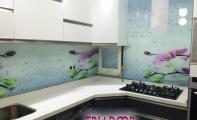 mutfak fayansı için yeni ürün panel şeklinde eksiz cam kaplama.