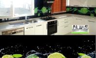 Mutfak Tezgah Arası Panel Görselleri - PANEL 117 -  Mutfak tezgah arası cam panel