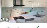 Mutfak Tezgah Arası Panel Görselleri - PANEL 120 -  Mutfak tezgah arası cam panel