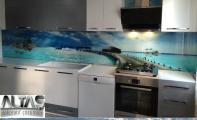 Mutfak Tezgah Arası Panel Görselleri - PANEL 122 -  Mutfak tezgah arası cam panel