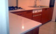 Acıbadem Çimstone mutfak tezgahı uygulaması. Çimstone granit mermer ve corian akrilik ürünlere göre çok üstün bir yüzey kaplama malzemesidir. Orjinal Çimstone ürün uygulaması için Altaş Çimstone en doğru adrestir.