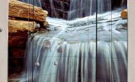 Duş Teknesi Arkası Resimli Fayans Tasarımı