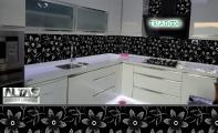 Mutfak Tezgah Arası Panel Görselleri - PANEL 119 -  Mutfak tezgah arası cam panel