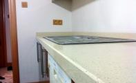 Çimstone Sines modeli 4cm kalınlık uygulamalı mutfak seti örneği.