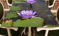 3 boyotlu yemek masası ve 3 boyut sehpa tasarımları. Masa konsol ve sehpalara özel tasarım 3D resim baskıları.