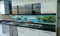 Mutfak tezgah arkası resimli pano kaplamalar. Şimdi cam panel ve akrilik panel seçenekleriyle..